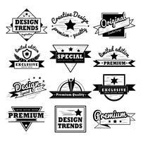 Conjunto de diseño de la insignia