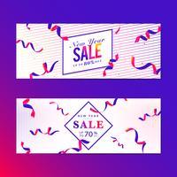 Levendige roze verkoop teken vector set