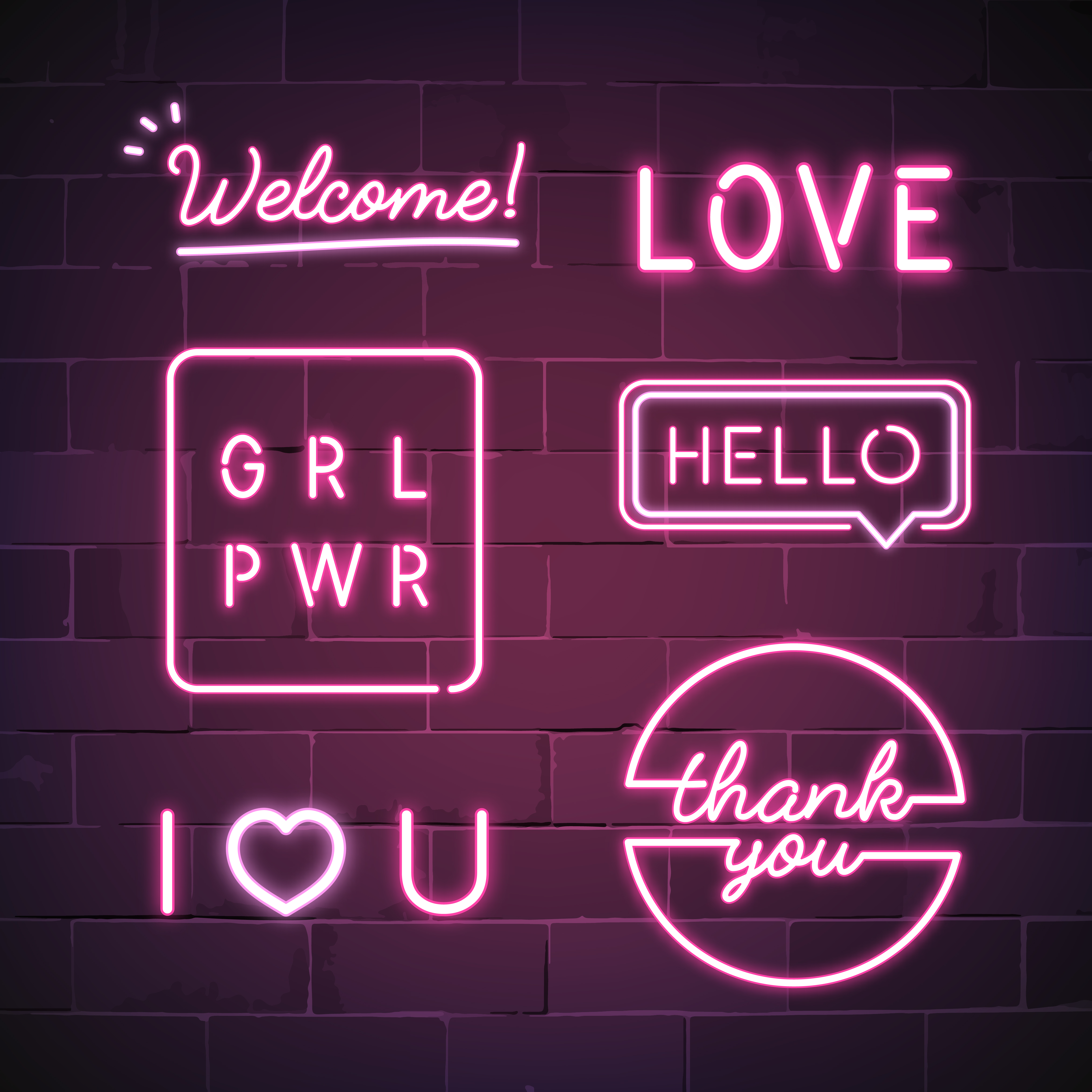New GRL PWR Girl Power Neon Sign Wall Decor Artwork Light Lamp Display Party