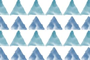 Pastel blue green watercolor background vector