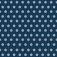 Nahtloses japanisches Muster mit Pflaumenblütenmotivvektor