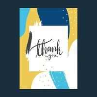 Colorful Memphis design thank you card vector