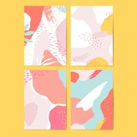 Conjunto de vetores de cartões coloridos estilo Memphis