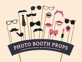 Woman accessories photo booth props vector