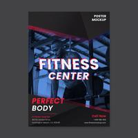 Vettore del manifesto promozionale del centro fitness