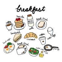Vektor av frukost samling