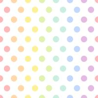 Seamless colorful polka dot pattern vector