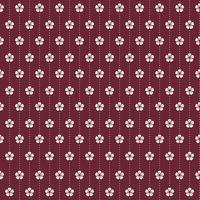 Seamless Japanese pattern with plum blossom motif vector