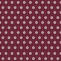 Motif japonais sans couture avec le vecteur de motif fleur de prunier