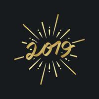 Vecteur de badge de bonne année 2019