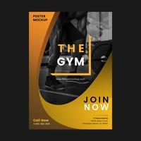 The gym promotional poster vector