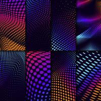 Tono medio vibrante en el conjunto de vectores de fondo negro