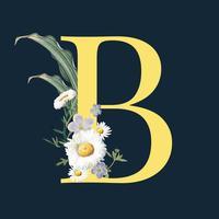 Brev B med blommor