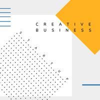 Vecteur d'affiches Minimal Memphis start-up business