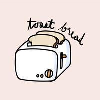 Estilo de desenho de ilustração de pão