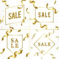 Verkauf Emblem mit Bändern Vektor
