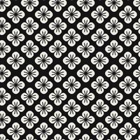 Seamless Japanese pattern with floral motif vector