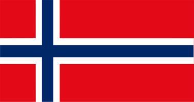 Illustration von Norwegen Flagge