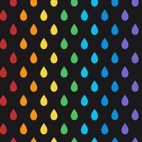 Naadloze kleurrijke druppel patroon vector