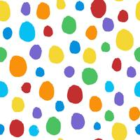 Seamless colorful dots pattern vector