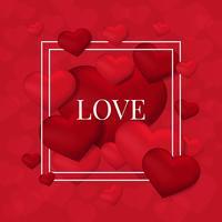Valentine's day card illustration