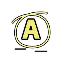 "Illustration of alphabet "" A """