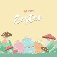 Easter border illustration