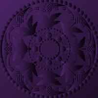 Violet mandala design