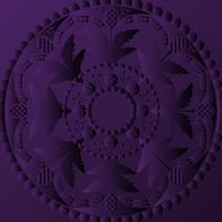 Violettes Mandala-Design