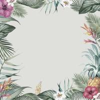 Tropical foliage frame