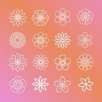 Blumenmuster und Symbole