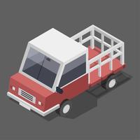 Vektor av röd lastbilikon