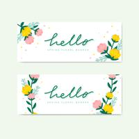 Spring floral illustration collection vector