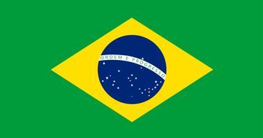 Illustratie van de vlag van Brazilië