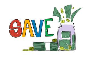 Illustration of money savings