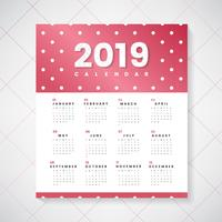 Maquete de calendário colorido