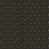 Modello senza cuciture geometrico dorato su fondo nero
