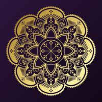 Golden mandala badge