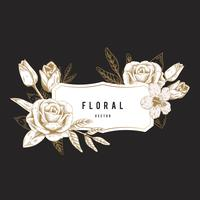 Romantisch bloemenkenteken
