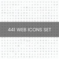 Conjunto de vectores de iconos de computadora