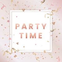 Light pink confetti celebratory design