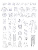 Vector of different types of clothes