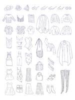 Vektor av olika typer av kläder