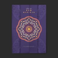 Lila Eid Mubarak flygblad