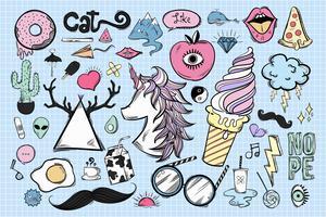 Set di icone carine e cool