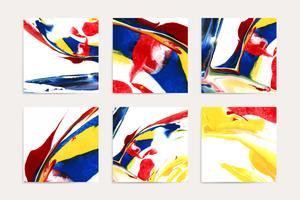 Blandade akrylmålningar