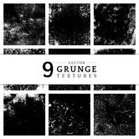 Monochrome grunge distressed texture set