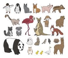 Vektor av olika typer av djur