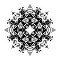 Patrón de mandala espiritual