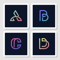 Colorful retro alphabets vector set